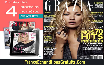 1 Mois de magazines Grazia et Portefeuille Gratuit
