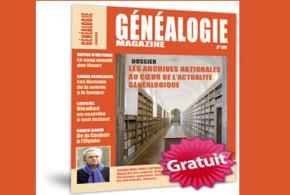 Magazine Généalogie : Un numéro gratuit