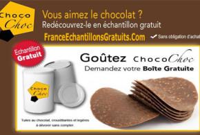 échantillon gratuit de chocolat ChocoChoc
