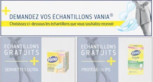 échantillons gratuits Vania