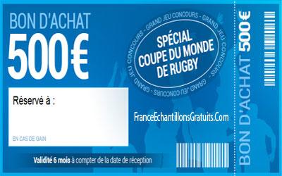 Bon d 39 achat de 500 sp cial coupe du monde de rugby - Bon d achat maison du monde ...