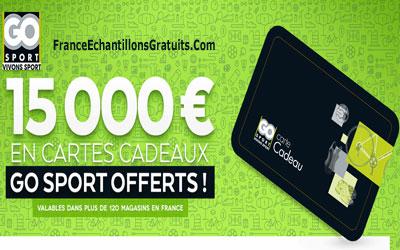 Carte Cadeau Go Sport.Jeu Concours 15000 En Cartes Cadeaux Go Sport