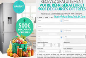 Jeu concours Réfrigérateur et 500€ de courses