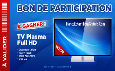 Jeu Concours Tv Plasma Full Hd A Gagner Echantillons Gratuits France