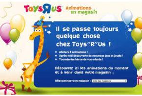 ToysRus animations gratuites