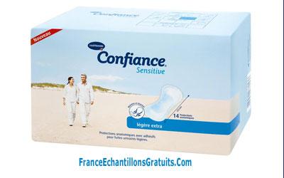 Échantillon gratuit pour hygiène intime Confiance