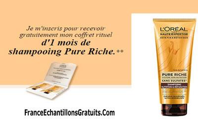 Échantillons de shampooing Pure Riche de L'Oréal Paris