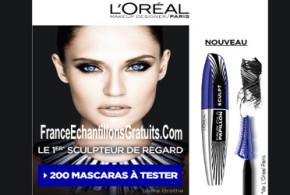 Test de produit Mascara Faux Cils Papillon Sculpt de L'Oréal