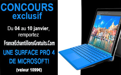 gagnez une tablette microsoft surface pro 4. Black Bedroom Furniture Sets. Home Design Ideas