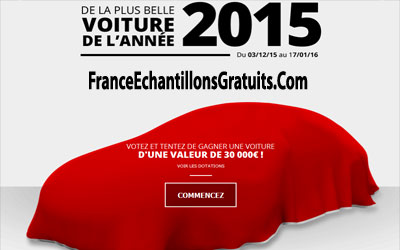 gagnez une voiture d une valeur de 30000 chantillons gratuits france. Black Bedroom Furniture Sets. Home Design Ideas