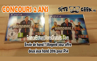 jeux vid o ps4 handball 2016 chantillons gratuits france. Black Bedroom Furniture Sets. Home Design Ideas
