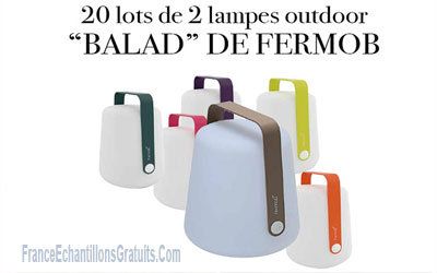 lampes led outdoor balad fermob. Black Bedroom Furniture Sets. Home Design Ideas