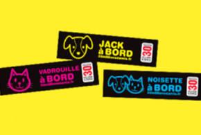 Echantillon gratuit, Sticker personnalisé animal pour voiture