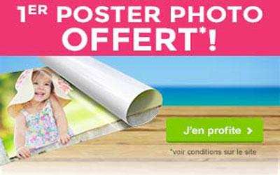 Echantillon gratuit, Un poster photos offert