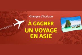 Concours gagnez un voyage en Asie pour 2 personnes