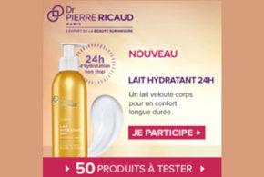 Test produit, Lait Hydratant 24H de Dr Pierre Ricaud