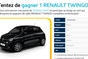 Concours gagnez une voiture Renault Twingo Intens SCe 70