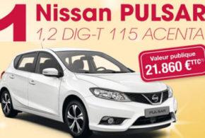 Concours gagnez une voiture Nissan Pulsar de 21860 euros