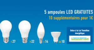 5 ampoules LED Gratuites