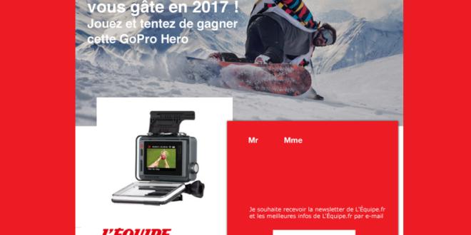 Concours gagnez 1 caméra vidéo GoPro avec LCD