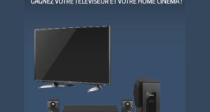 Concours gagnez 1 téléviseur + 1 home-cinéma