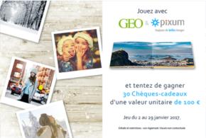 Concours gagnez 30 chèques cadeau Pixum de 100 euros