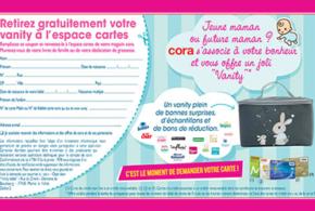 Vanity bébé gratuit chez Cora échantillons + réductions