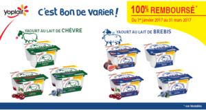 Yaourt lait de brebis ou de chèvre 100% remboursé