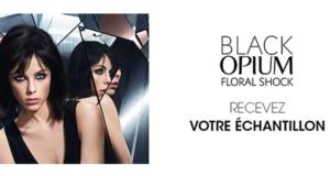 Échantillons gratuits Black Opium Floral Shock d'Yves Saint Laurent