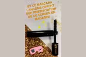 Échantillons gratuits, Mascara Lancome