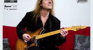 1 guitare électrique Ibanez dédicacée par Yann Armellino