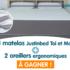 1 matelas avec 2 oreillers ergonomiques