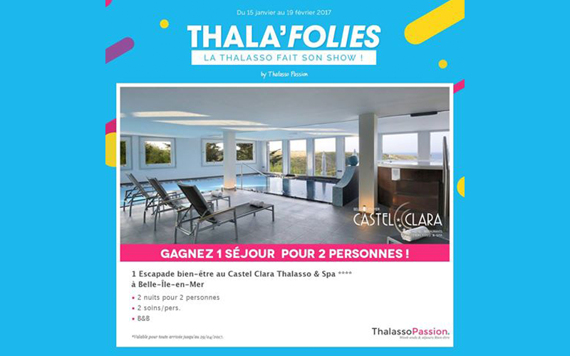 concours gagnez 1 s jour thalasso pour 2 belle ile en mer chantillons gratuits france. Black Bedroom Furniture Sets. Home Design Ideas