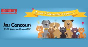 Concours gagnez 3 mois d'alimentation Mastery pour chien ou chat
