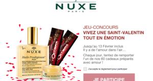 Concours gagnez 60 produits de soins Huile Prodigieuse Nuxe