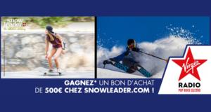 Concours gagnez bons d'achat Snowleader de 500 euros