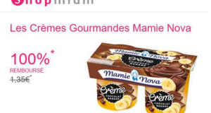 Creme gourmande Mamie Nova 100 remboursee
