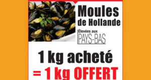 1 kg de moules offertes