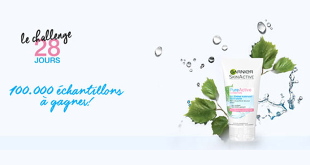 100000 échantillons gratuits Pure Active Sensitive de Garnier