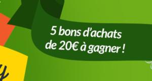 5 bons d'achat Casino de 20 euros