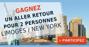 Billets d'avions AR Limoges New York