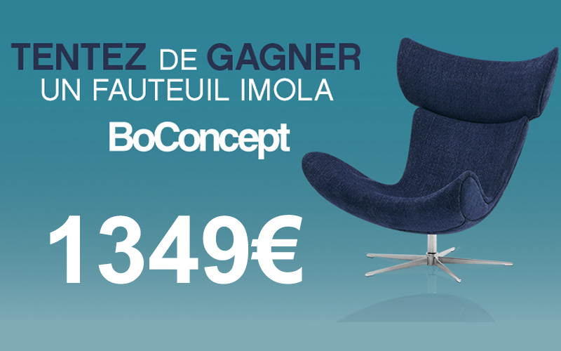 fauteuil boconcept de 1349 euros chantillons gratuits france. Black Bedroom Furniture Sets. Home Design Ideas