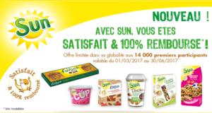 Gamme sun fruit sec 100% remboursé