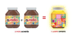 Lampe Nutella gratuite pour 2 produits achetés
