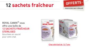Royal Canin 12 sachets fraîcheur gratuits pour votre chat