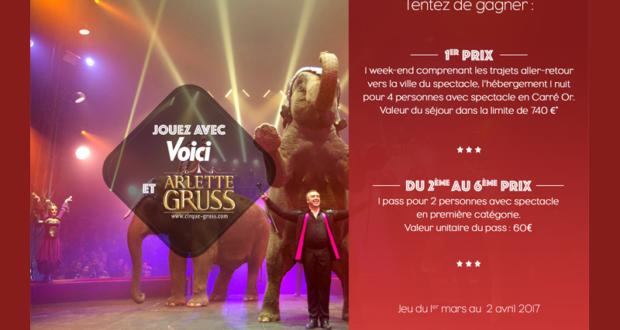 Week-end pour 4 personnes pour le spectacle de cirque Arlette Gruss