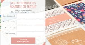 Échantillon faire-part de mariage personnalisés