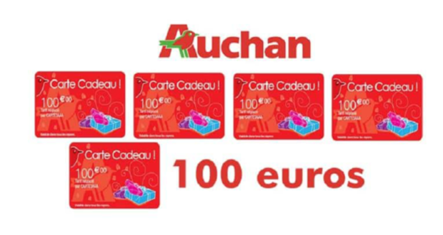 cartes cadeau auchan de 100 euros. Black Bedroom Furniture Sets. Home Design Ideas