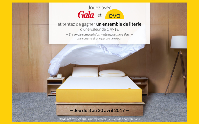 ensemble de literie eve matelas de 1491 euros. Black Bedroom Furniture Sets. Home Design Ideas