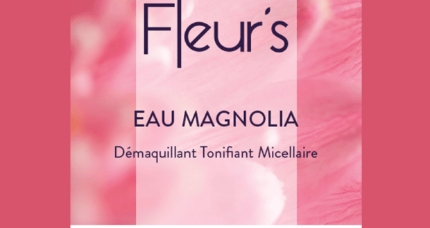 testez l 39 eau magnolia d maquillant tonifiant micellaire de fleur 39 s. Black Bedroom Furniture Sets. Home Design Ideas